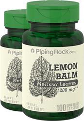 Melissa Leaves (Lemon Balm) 490 mg 2 x 100 Capsules