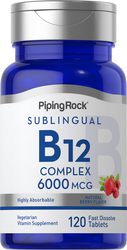 Σύμπλεγμα μεθυλκοβαλαμίνης B-12 (υπογλώσσιο) 120 Ταμπλέτες ταχείας διάλυσης