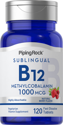 Methylcobalamine B-12 (sublinguaal) 120 Snel oplossende tabletten