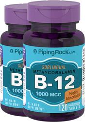 Methylcobalamin B-12 (placeres under tungen) 120 Hurtigt opløselige tabletter