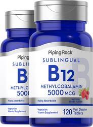 Methylcobalamin B-12 (Sublingual), 5000 mcg, 120 Fast Dissolve Tablets