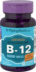 B-12 Methylcobalamin 5000mcg Sublingual 60 Fast Dissolve Tablets