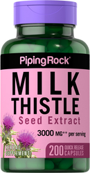 Milk Thistle Seed Extract 3,000 mg (per serving), 200 Capsules