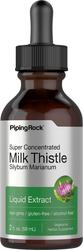 Extrait liquide de graines de chardon de lait 2 fl oz (59 mL) Compte-gouttes en verre