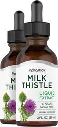 ミルク シスル (シリマリン) シード リキッド エキス 2 fl oz (59 mL) スポイト ボトル