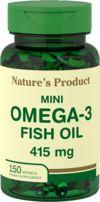 ミニオメガ-3 フィッシュオイル 415 mg レモン風味 150 ソフトジェル