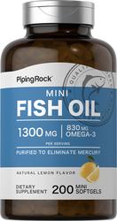 Mini Omega-3 Fish Oil 415 mg Lemon Flavor 2 x 100