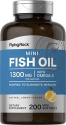 Mini Omega-3 Fischöl 415 mg mit Zitronenaroma 200 Mini-Softgele