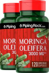 Moringa Oleifera 3000 mg, 2 Bottles x 120 Capsules