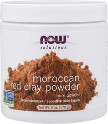 Marokkanische rote Tonerde-Pulver, 100% rein 6 oz (170 g) Glas