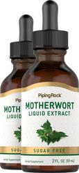 Motherwort Liquid Extract (Sugar Free), 2 fl oz (59 mL) Dropper Bottle x 2 Bottles