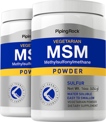 MSM + Sulfuro en polvo 16 oz (454 g) Botellas/Frascos