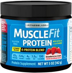 MuscleFit Protein Powder (Strawberry Ice Cream) (Trial Size), 5 oz