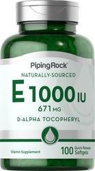 Natural Vitamin E-1000 IU 100 Softgels