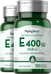 วิตามิน E ธรรมชาติ 100 ซอฟต์เจลแบบปล่อยตัวยาเร็ว