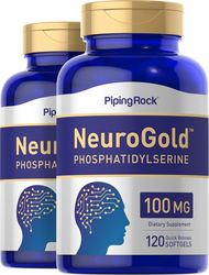 NeuroGold Phosphatidylserine 100 mg, 120 Softgels x 2 Bottles