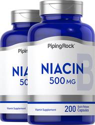 Niacin 500 mg 2 Bottles x 200  Capsules