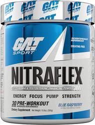 Suplemento en polvo Nitraflex (Sabor Blue Raspberry) 10.6 oz (300 g) Botella/Frasco