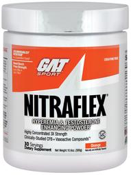 Suplemento en polvo Nitraflex (Sabor a naranja) 10.6 oz (300 g) Botella/Frasco