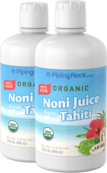 Organic Noni Juice 100% Pure 2 x 32 fl oz (946 mL) Liquid