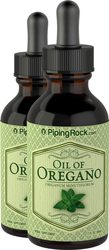 Oil of Oregano Liquid Extract 2 Dropper Bottles x 2 fl oz (59 mL)