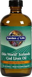 Óleo de Fígado de Bacalhau Islandês (sabor limão, hortelã) 8 fl oz (236 mL) Frasco