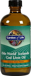 Liquide à base d'huile de foie de morue d'Islande Olde World (arôme citron-menthe) 8 fl oz (236 mL) Bouteille