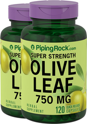 Olive Leaf Extract 750mg 2 Bottles x 120 Capsules