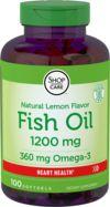 ω-3 魚油膠囊(檸檬味)  100 軟膠