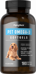 Omega-3 Fatty Acid Supplement for Dogs 180 Softgels