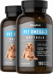 Omega-3 Fatty Acid Supplement for Dogs 2 x 180 Softgels