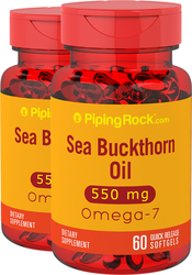 Omega-7 Sea Buckthorn Oil, 550 mg, 60 Softgels