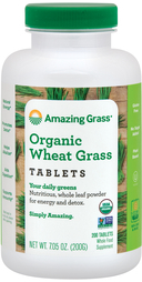 Organic Wheat Grass, 200 Tablets