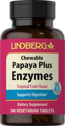 Papaya Plus Enzyme Chewable (Tropical Fruit)