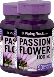 Buy Passion Flower 1100mg Stress Relief 90 Supplement Capsules