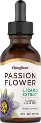 Extrait liquide de fleurs de la passion sans alcool 2 fl oz (59 mL) Compte-gouttes en verre