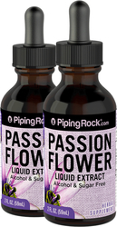 Passion Flower Liquid Herbal Extract Alcohol Free 2 x 2 fl oz (59 mL)