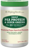 Pea Protein with Super Greens Powder 11 oz (312 g) Bottle