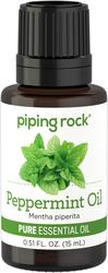Óleo essencial puro de hortelã-pimenta (Teste de GC/MS) 1/2 fl oz (15 mL) Frasco conta-gotas