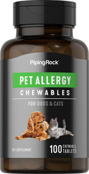 Pet Allergy for Dogs & Cats 100 Chewable Tablets