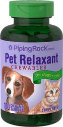 Relaksan Haiwan untuk Anjing & Kucing 100 Tablet Boleh Kunyah