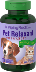 Pet Relaxant for Dogs & Cats, 100 Chewable Tablets