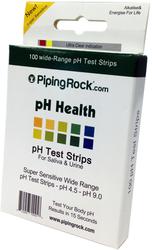 PH テスト ストリップ、唾液および尿用 100 テスト ストリップ