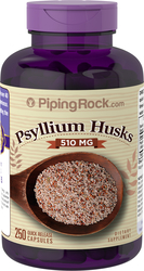 Psyllium Husks 510 mg, 250 Capsules