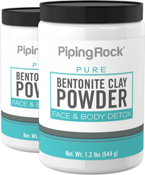 Bentonite Clay Powder, 2 x 1.2 lbs (544 g)