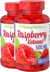 Raspberry Ketones 500mg 2 Bottles x 120 Capsules