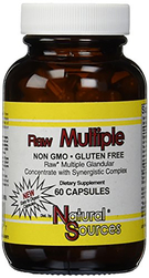 Raw Multiple Glandular 60 Capsules