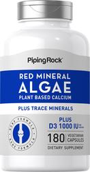 Red Mineral Algae (Aquamin Plant Based Calcium) 2 Bottles x 90 Capsules