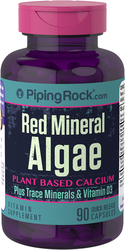 Algues minérales rouges (calcium à base de plantes Aquamin) 90 Gélules à libération rapide