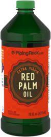 Óleo de palma vermelho (extra virgem) 16 fl oz (473 mL) Frasco
